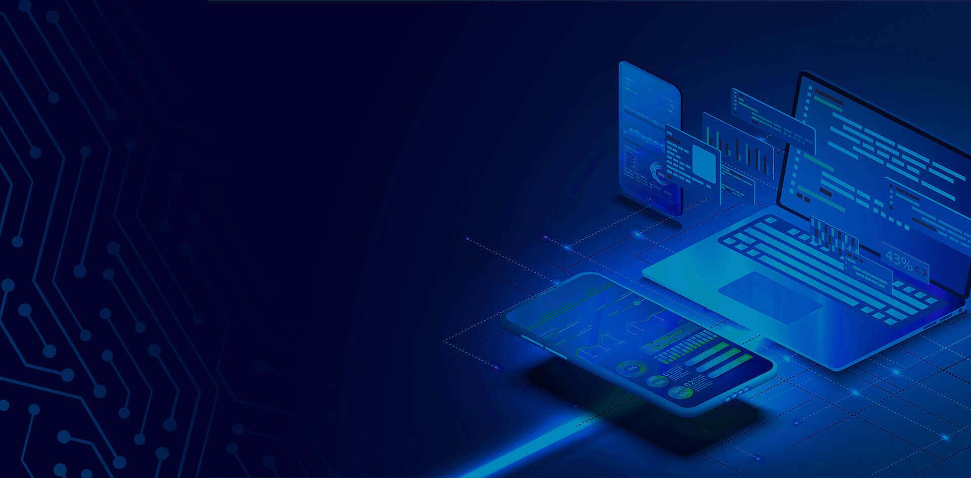 Notebook e celular com filtro azul
